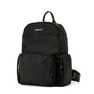 超歓迎された 全商品オープニング価格 PRIMA CLASSE プリマクラッセ ブラック 19H-1204 軽量ポリ素材ポケット付ユニセックスリュック