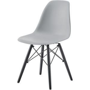 <title>モダン パーソナルチェア 椅子 2脚セット 〔グレー〕 幅44cm×奥行53cm×高さ79cm×座面高44cm ふるさと割 木製脚付き 〔組立品〕</title>