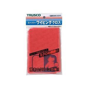 まとめ TRUSCO スーパーワイピングクロス300×300mm 1枚〔×20セット〕 赤 SWC-30-R 好評 予約販売品