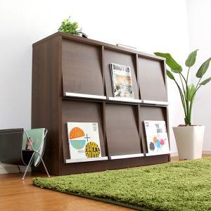 ディスプレイラック 本棚 木製 オープン フラップ扉|dicedice