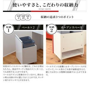 光沢のある 鏡面 仕上げ ミニ キッチンカウンター ゴミ箱収|dicedice|02
