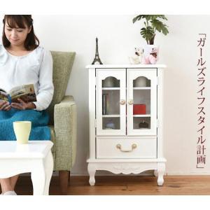 姫系家具 キャッツプリンセス ガラスキャビネット 幅50 高|dicedice