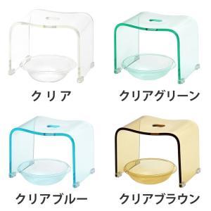 お風呂/椅子/アクリル/ホワイト/ブラック/ブラウン/グレー/単色 バスチェア & ボウル dietya 02