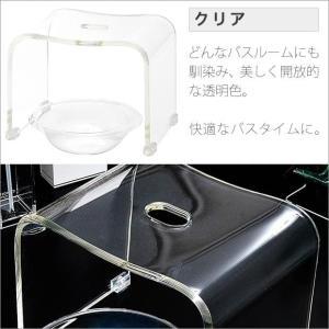 お風呂/椅子/アクリル/ホワイト/ブラック/ブラウン/グレー/単色 バスチェア & ボウル dietya 04