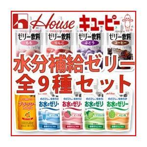 介護食 区分4/ ジャネフ&ハウス食品 水分補給ゼリー 9種類 アソートセット(各2個ずつ 18個入)|dietya