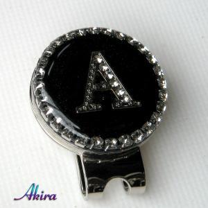 イニシャル ゴルフマーカー A black by-akira different
