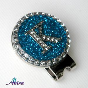 イニシャル ゴルフマーカー K blue by-akira different