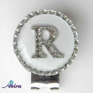 イニシャル ゴルフマーカー R white/silverC by-akira different