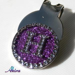 イニシャル ゴルフマーカー H purple by-akira different