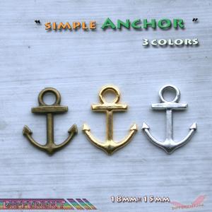 錨 シンプル チャーム 3colors アクセサリー材料 different