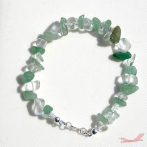 アベンチュリン 水晶 天然石ブレスレット Silver925 一点物 different