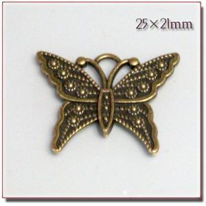 デコ&チャーム 金古美 Butterfly 25*21mm|different