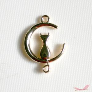 猫と月 ランデブー コネクター|different