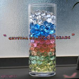 クリスタルゲルウォータービーズ 約200粒 約1mm 水分補充で10mm 6color different