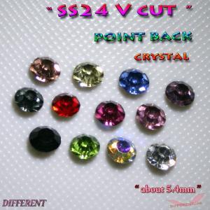 SS24 Crystal  Vカットストーン 6粒 約5.4mm前後|different