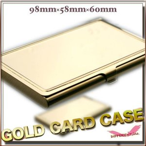 デコ素材 名刺&カードケース ゴールド ステンレス製|different