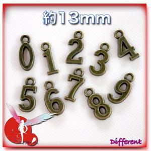 【アウトレット】チャームパーツ Numbers 0~9|different