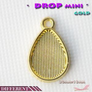 ドロップ セッティング台mini 20×13mm ゴールド|different
