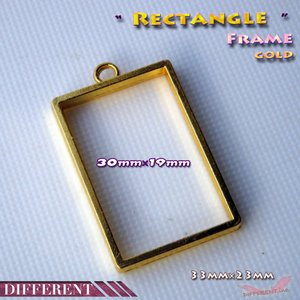 フレームパーツ ゴールド 長方形|different