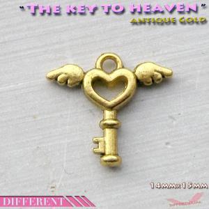 天使の鍵(天国への鍵)ミニ チャームパーツ different