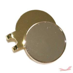 ゴールド ゴルフマーカー クリップセット 25mm 淵有と淵なし デコ素材|different