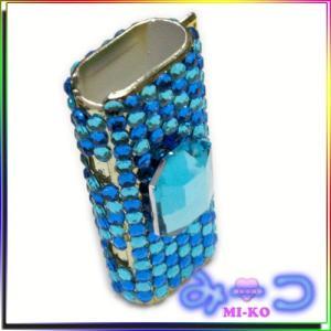 デコでキラキラ シンプルライターケース Blue by-みーコ|different