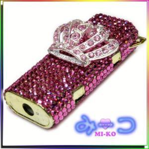 スワロでキラキラ 姫 ライターケース Pink by-みーコ|different