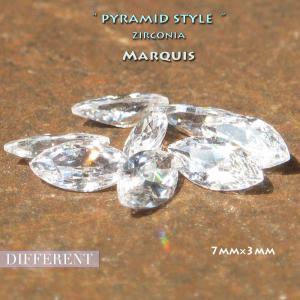 マーキス ピラミッドキラキラストーン 7mm×3mm ジルコニア|different
