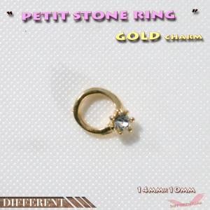指輪 プチキラ リング ゴールドチャーム|different