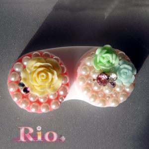 コンタクトケース 姫デコキラキラ C by-Rio|different