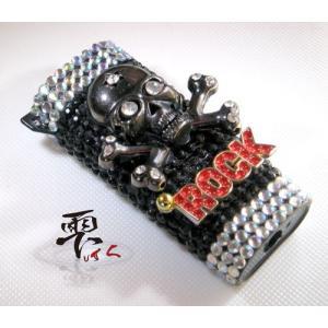 メンズライターケース  ドクロ&ROCKでギンギン  デコ製品 by-雫|different