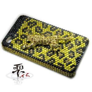 iPhone4 豹 カスタムジャケット  メンズデコ製品 by-雫|different