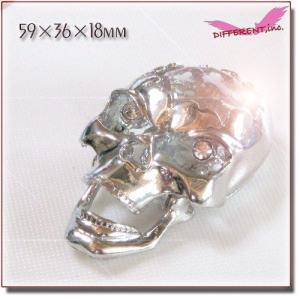 【アウトレット】Big Chrome Skull Crystal 【在庫処分】|different