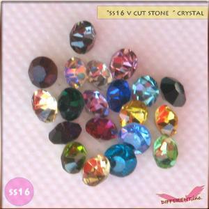 SS16 デコにレジンに Crystal  Vカットストーン 20粒 20Color|different
