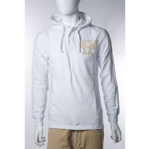 ハイドロゲン HYDROGEN ポロシャツ 長袖 フード付き メンズ 110024 ホワイト HYD値下|diffusion