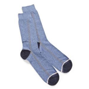 ディーゼル DIESEL ソックス 靴下 レギュラー メンズ 00SAYJ 0KACI ブルー|diffusion