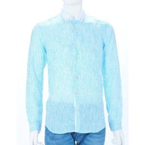 ポッジャンティ【POGGIANTI 1958】シャツ/長袖 【カラー】ホワイト×ブルー  【素材】リ...
