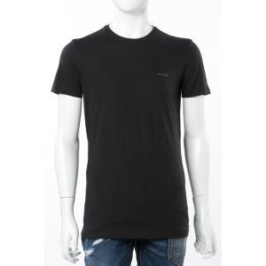 【メール便対象 送料無料】ディーゼル DIESEL Tシャツ アンダーウェア 半袖 丸首 クルーネック メンズ 00SPDG 0AALW ブラック|diffusion