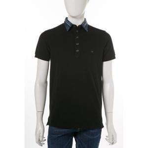 ディーゼル DIESEL ポロシャツ 半袖 T-SERPILA CAMICIA メンズ 00SRG4 0WAGQ ブラック|diffusion