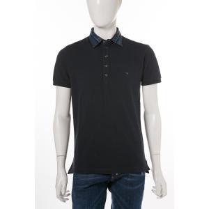 ディーゼル DIESEL ポロシャツ 半袖 T-SERPILA CAMICIA メンズ 00SRG4 0WAGQ ネイビー|diffusion