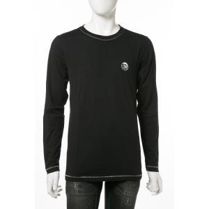 ディーゼル DIESEL ロングTシャツ ロンT 長袖 丸首 クルーネック UMLT-JUSTIN T-shirt L/S メンズ 00CP7C RTARI ブラック|diffusion