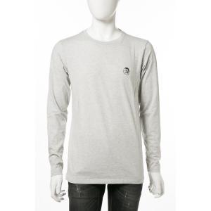 ディーゼル DIESEL ロングTシャツ ロンT 長袖 丸首 クルーネック UMLT-JUSTIN T-shirt L/S メンズ 00CP7C RTARI グレー|diffusion