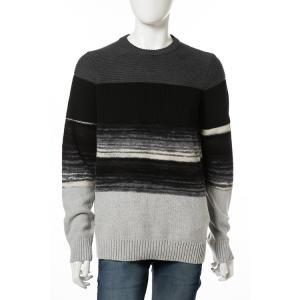 ディーゼル DIESEL セーター プルオーバー ニット 長袖 丸首 クルーネック K-BACCANALIS PULLOVER メンズ 00ST9M 0PAMN ブラック|diffusion