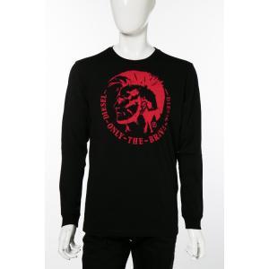 ディーゼル DIESEL ロングTシャツ ロンT 長袖 丸首 クルーネック T-DIEGO-LONG-B-R MAGLIETTA メンズ 00SEY7 R091B ブラック|diffusion