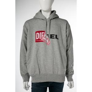ディーゼル DIESEL トレーナー プルオーバーパーカー フーディ スウェット S-ALBY FELPA メンズ 00S8WB 0IAEG グレー|diffusion
