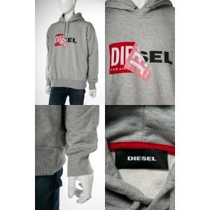 ディーゼル DIESEL トレーナー プルオーバーパーカー フーディ スウェット S-ALBY FELPA メンズ 00S8WB 0IAEG グレー|diffusion|03