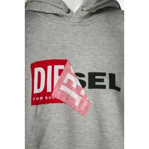 ディーゼル DIESEL トレーナー プルオーバーパーカー フーディ スウェット S-ALBY FELPA メンズ 00S8WB 0IAEG グレー|diffusion|05