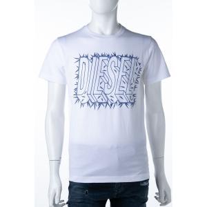 ディーゼル DIESEL Tシャツ 半袖 丸首 クルーネック T-DIEGO-SL T-SHIRT メンズ 00SCQ8 0091B ホワイト|diffusion