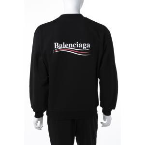 バレンシアガ BALENCIAGA トレーナー プルオーバー スウェット メンズ 556147 TBV14 ブラック 2019年春夏新作 上下別売 セットアップ上|diffusion