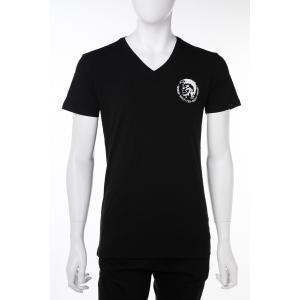 ディーゼル DIESEL Tシャツアンダーウェア Tシャツ 半袖 Vネック メンズ 00SHGU 0TANL ブラック|diffusion